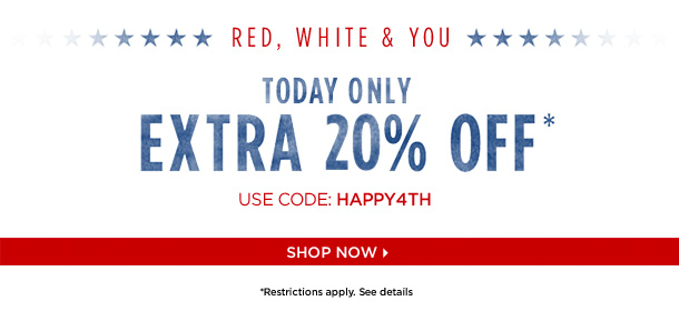 Shopping and shipping 4th july sale at private shopping for Designer flash sale sites