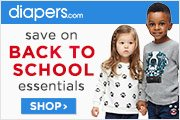 Back to School Savings at Diapers.com