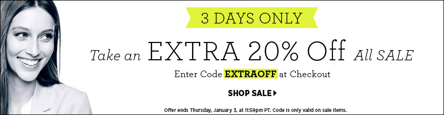 EXTRA 20% OFF All Sale @ Shopbop.com