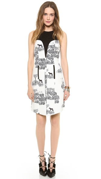 Angelys Balek Print Dress with Slit