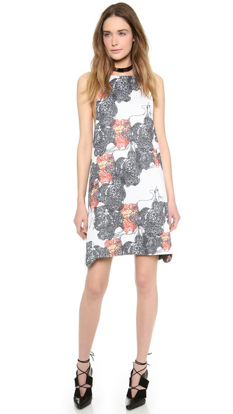 Angelys Balek Print Racer Back Dress - Unicorn Color Print at Shopbop / East Dane