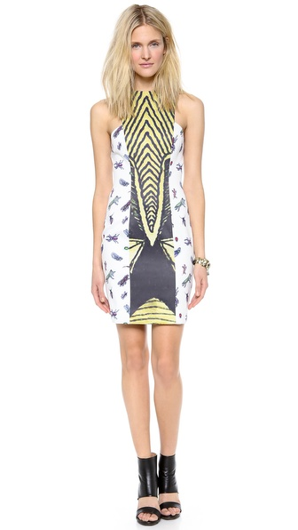 Angelys Balek Julliard Dress - White Print at Shopbop / East Dane