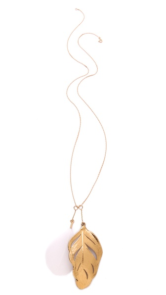 Aurelie Bidermann Swan Feather Necklace