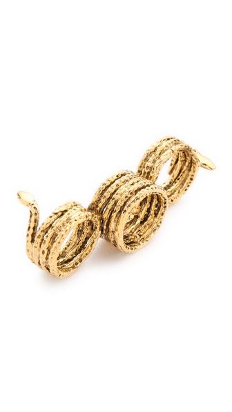 Aurelie Bidermann Three Snakes Ring