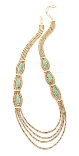Aurelie Bidermann Sunset Necklace with Turquoise