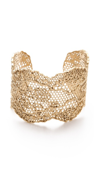 Aurelie Bidermann Lace Cuff - Gold at Shopbop / East Dane