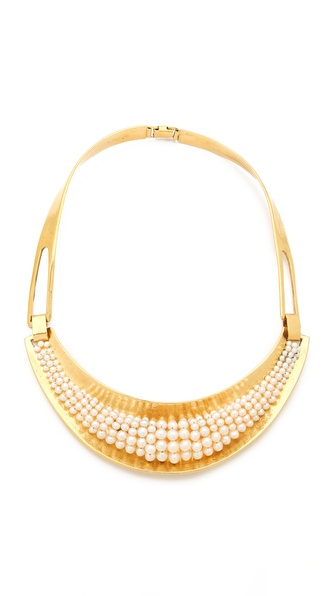 Aurelie Bidermann Cheyne Walk Necklace - White/Gold at Shopbop / East Dane