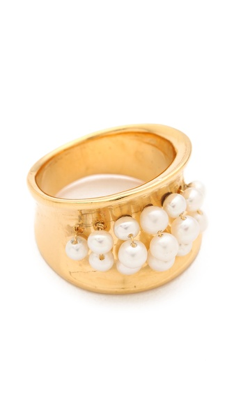 Aurelie Bidermann Cultured Freshwater Pearls Cheyne Walk Ring