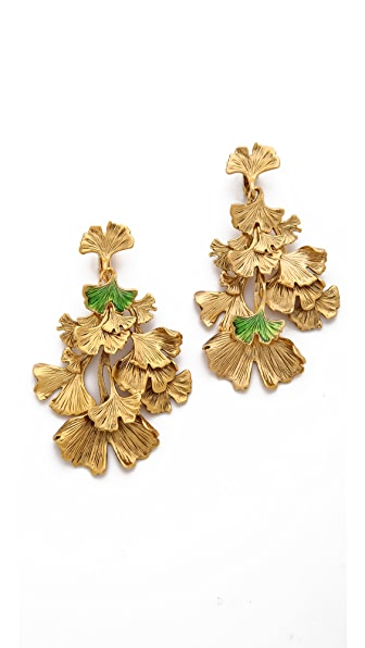 Aurelie Bidermann Tangerine Clip On Earrings