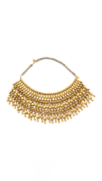 Aurelie Bidermann Heart Beaded Bib Necklace - Gold at Shopbop / East Dane