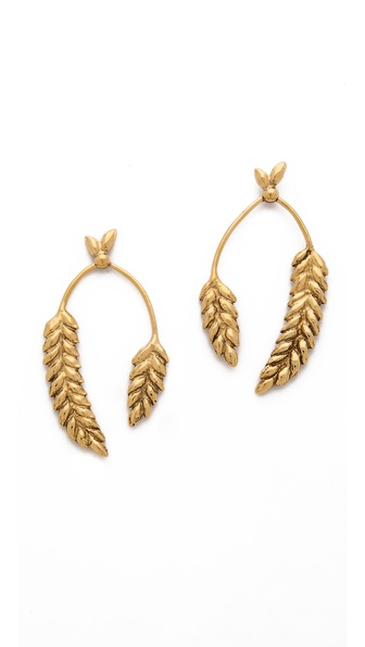 Aurelie Bidermann Wheat Cob Earrings - Gold at Shopbop / East Dane