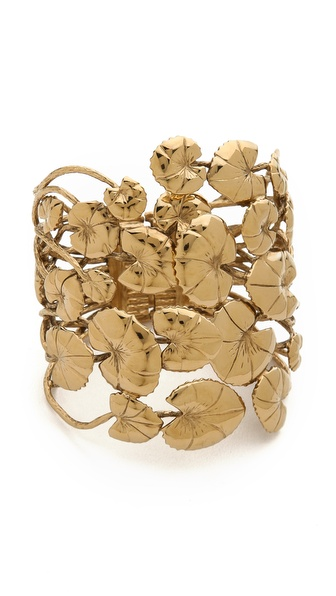 Aurelie Bidermann Nympheas Leaves Cuff - Gold at Shopbop / East Dane