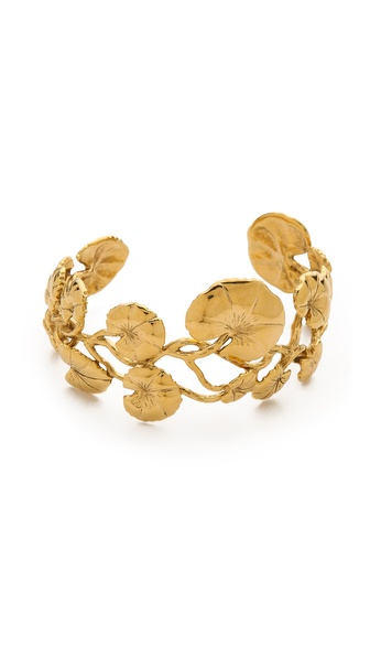 Aurelie Bidermann Nympheas Leaves Bangle - Gold at Shopbop / East Dane