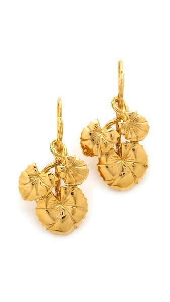 Aurelie Bidermann Nympheas Leaves Earrings - Gold at Shopbop / East Dane
