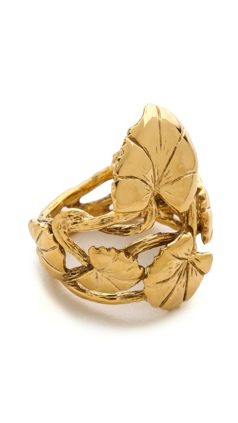 Aurelie Bidermann Nympheas Leaves Ring - Gold at Shopbop / East Dane