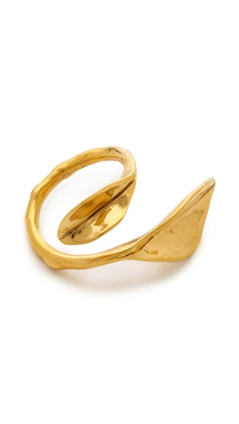 Aurelie Bidermann Leaf Ring - Gold at Shopbop / East Dane