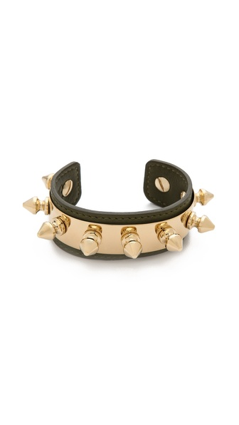 Aurelie Bidermann Camden Bracelet - Khaki at Shopbop / East Dane