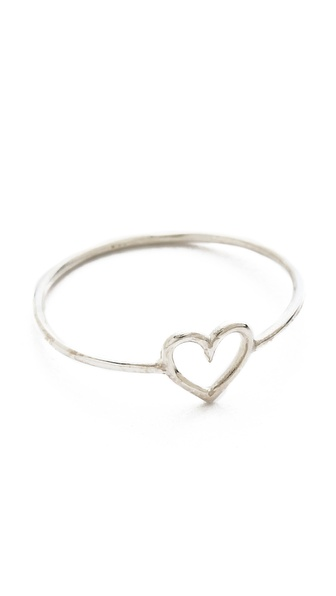 Aurelie Bidermann 750 Sterling Silver Love Ring - Silver at Shopbop / East Dane