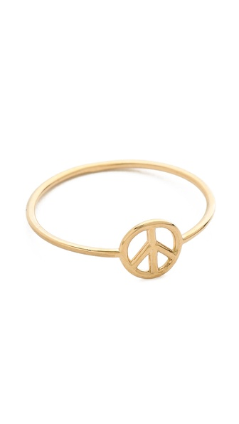 Aurelie Bidermann 18K Gold Peace Ring - Gold at Shopbop / East Dane