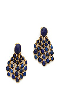 Aurelie Bidermann Wild West Clip On Lapis Lazuli Earrings