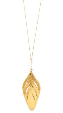 Aurelie Bidermann Organic Feather Necklace