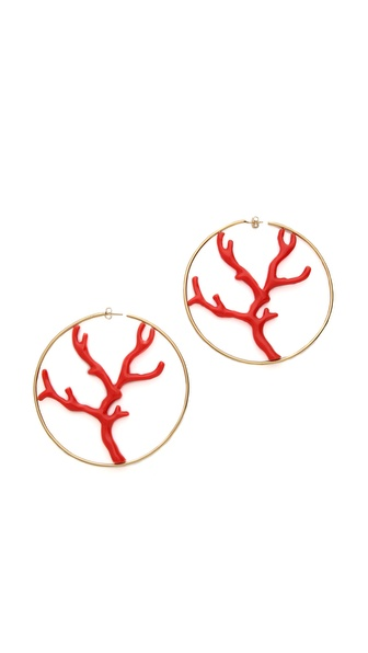 Aurelie Bidermann Capri Hoop Earrings