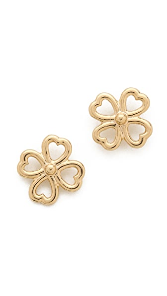 Aurelie Bidermann Clover Stud Earrings