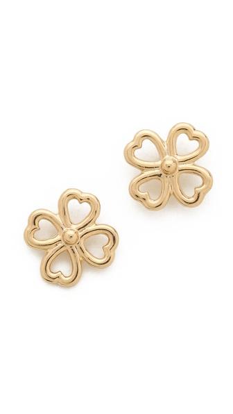Aurelie Bidermann Clover Stud Earrings