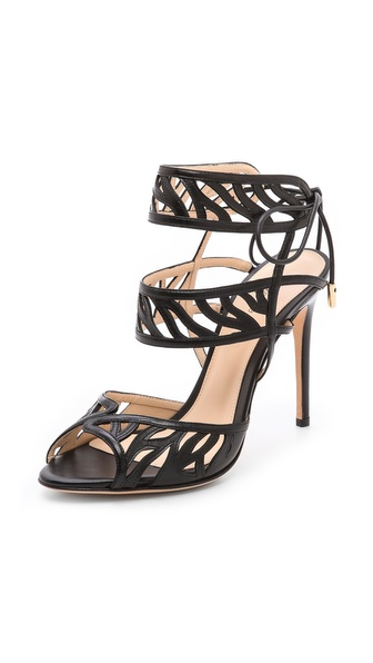 Alexandre Birman Cage Stiletto Sandals - Black at Shopbop / East Dane