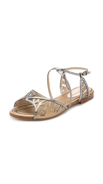 Alexandre Birman Watersnake Flat Sandals - Pale at Shopbop / East Dane