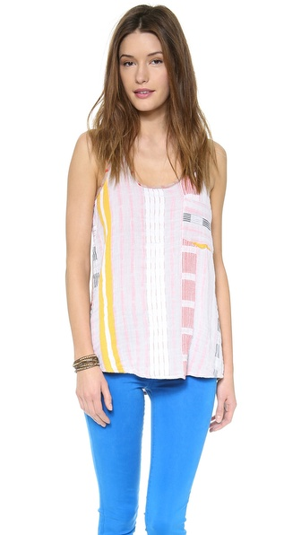 Ace&Jig Duo Tank Top - Crayon W/ Gesso Dot Back at Shopbop / East Dane