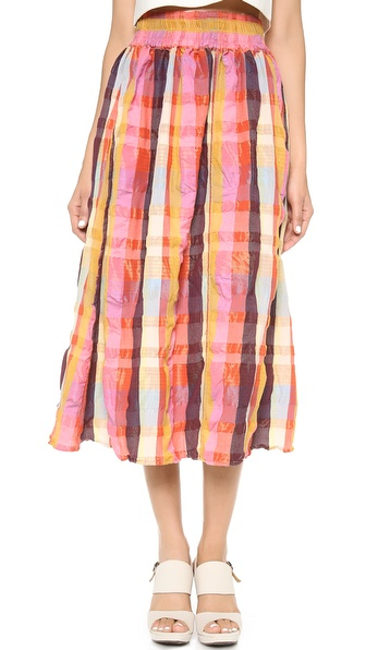Ace&Jig Ra Ra Midi Skirt - Spectrum at Shopbop / East Dane