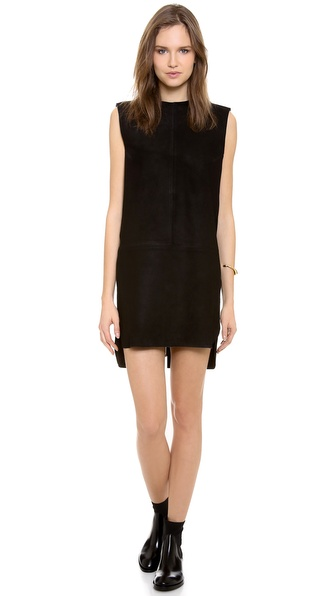 Acne Studios Miska Suede Dress - Black at Shopbop / East Dane
