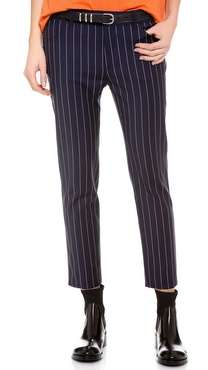 Acne Studios Kid Pinstripe Cropped Trousers