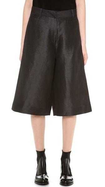 Acne Studios Kat S Shantung Trouser Shorts