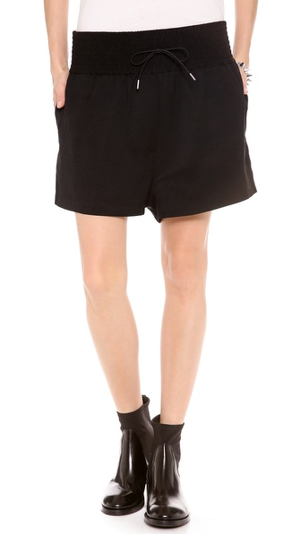 Acne Studios Kyra Linen Shorts - Black at Shopbop / East Dane