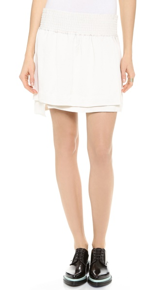 Acne Studios Ilon Layered Miniskirt - Ecru at Shopbop / East Dane
