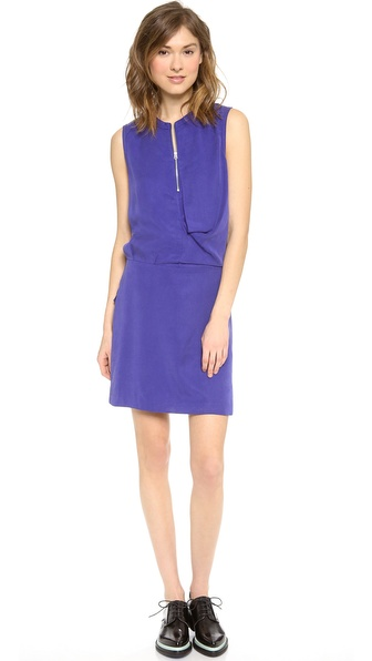Acne Studios Twist Fluid Dress - Blue at Shopbop / East Dane