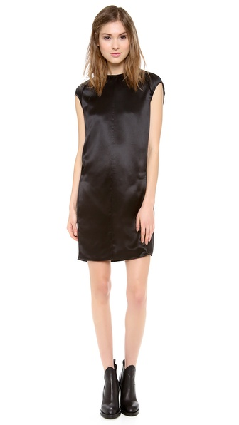 Acne Studios Teddi Satin Dress - Black at Shopbop / East Dane