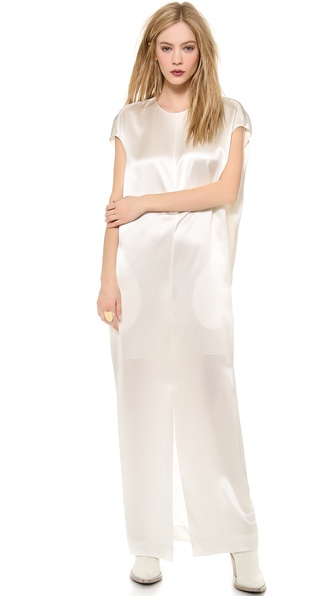 Acne Studios Teddi Satin Gown - Off White at Shopbop / East Dane