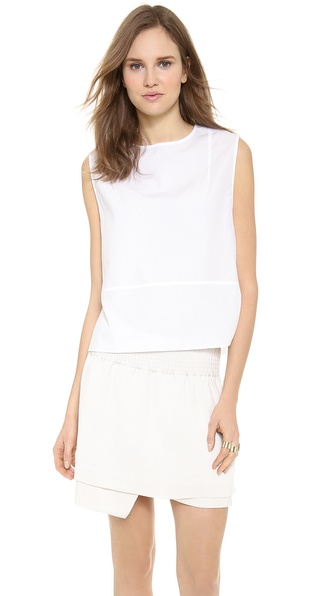 Acne Studios Rasa Poplin Top - Optic White at Shopbop / East Dane