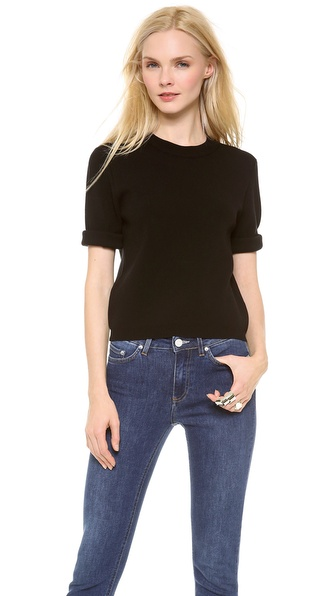Acne Studios Aurora Boiled Sweater - Black at Shopbop / East Dane