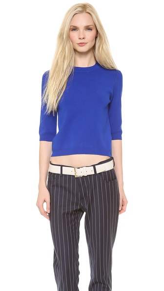 Acne Studios Aurora Boiled Sweater - Klein Blue at Shopbop / East Dane