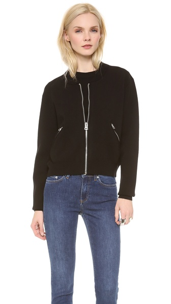 Acne Studios Olympia Boiled Baseball Jacket - Black at Shopbop / East Dane