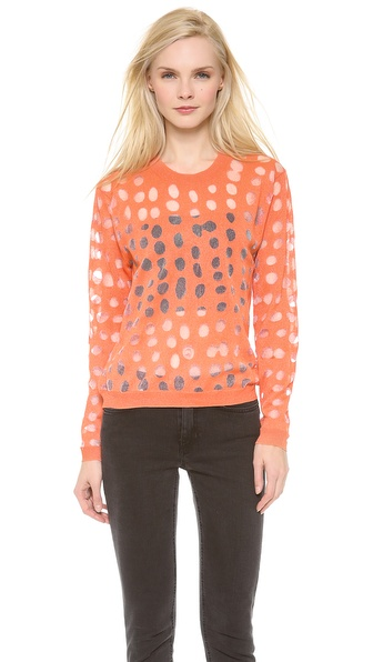 Acne Studios Ninah Dots Abstract Sweater - Orange at Shopbop / East Dane