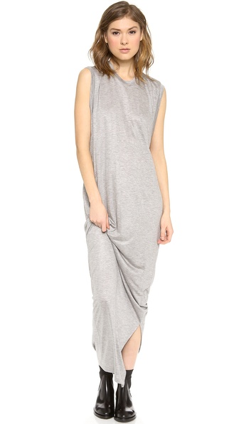 Acne Studios Bree Tencel Long Dress - Grey Melange at Shopbop / East Dane