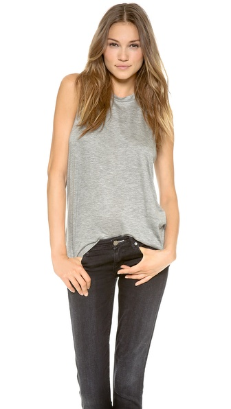 Acne Studios Bosa Tencel Tank Top - Grey Melange at Shopbop / East Dane
