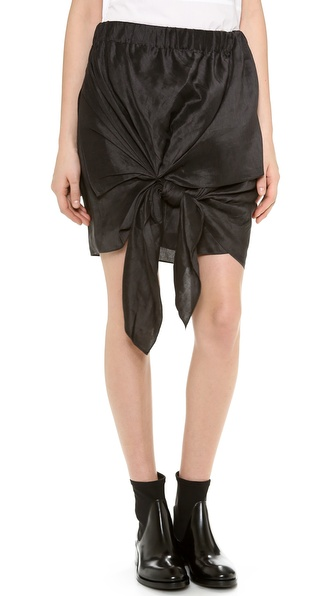 Acne Studios Ines Shantung Skirt - Charcoal at Shopbop / East Dane