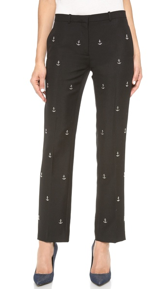 Acne Studios Studded Suiting Pants - Black at Shopbop / East Dane