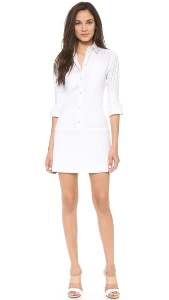 Acne Studios Mover Shirtdress - Paper White at Shopbop / East Dane